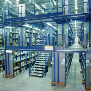 Storite shelving supported mezzanine