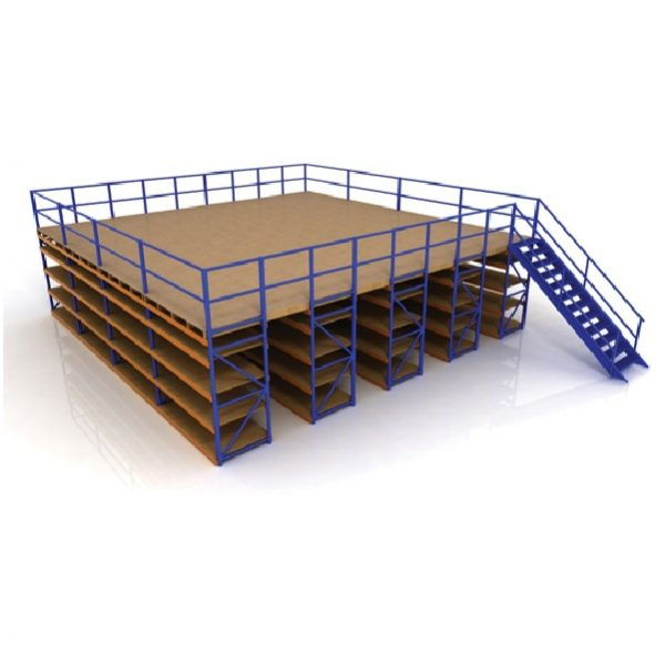Stortie racking supported mezzanine